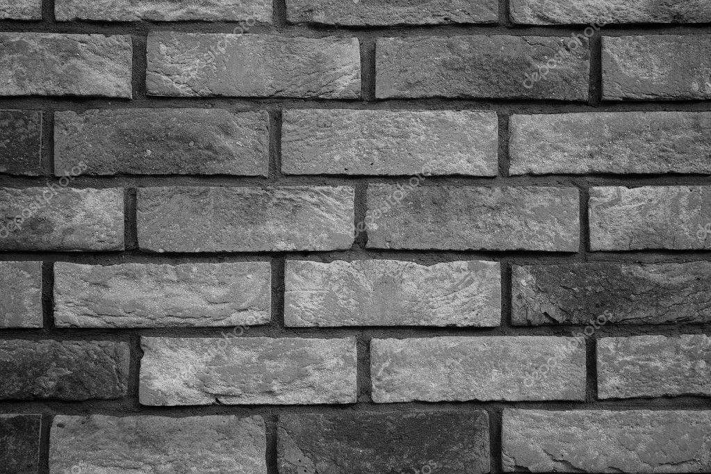 Brick Wall On Black White Tone Stock Photo Tombaky