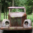 Old rusted army car — Stock Photo