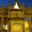 Carlo Maderno Fountain at night — Stock Photo
