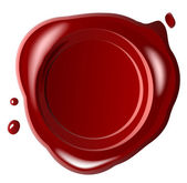 Red seal wax — Stock Photo