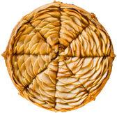 Freshly baked sliced French apple pie — Stock Photo