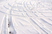 Track in the snow — Stock Photo