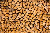 Stacked wood log — Stock Photo