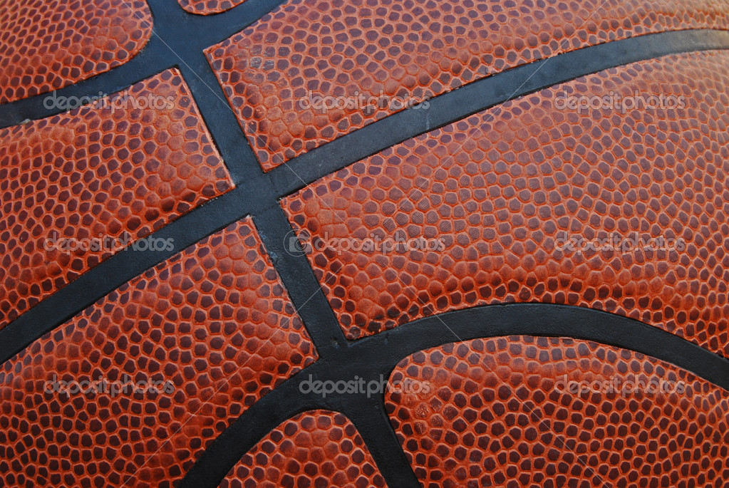 Close-up of leather basketball with texture for background — Stock Photo #2238047