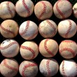 Rows of Baseballs — Stock Photo