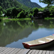 Stock Photo: Boat on Pond