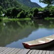 Boat on Pond — Stock Photo