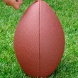 Football Held For Place Kicker — Stockfoto