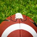 americký fotbal na trávě — Stock fotografie