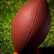 American Football on Tee Side View — Stockfoto