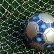 Stock Photo: Soccer Ball and Net