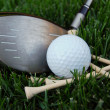 Stock Photo: Golf Club Ball & Tees