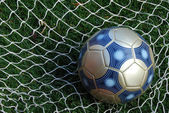 Soccer Ball and Net — Stock Photo