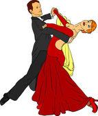 Dance pair — Stock Vector