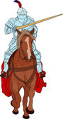 Knight on horse — Stock Vector