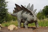 Big stegosaurus on nature background — Stock Photo