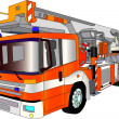 Fire engine lader — Stock Vector