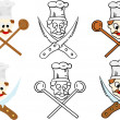 Set of chef - Stock Vector
