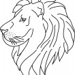Lion contour — Stock Vector