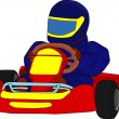 Stock Vector: Go kart