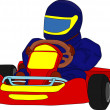Go kart — Stock Vector