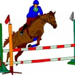 Horse jumping - Stock Vector
