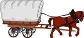 Horse cart — Stock Vector