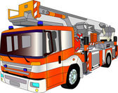 Fire engine lader — Vettoriale Stock