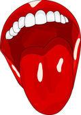 Women's open mouth w — Stock Vector