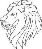 Lion contour — Stock Vector