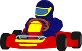 Go kart — Stock Vector