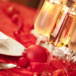 Royalty-Free Stock Photo: Elegant Christmas table setting in red