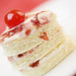 Foto Stock: Three layer heart shape cake