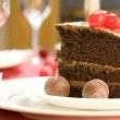 Delicious chocolate cake — Stock Photo