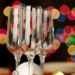 Three empty wine glasses — Stock Photo