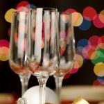 Three empty wine glasses — Stock Photo #2630333