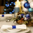 Elegant Christmas table setting — Stock Photo #2630425