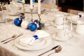 Elegant Christmas table setting — Zdjęcie stockowe