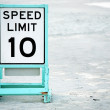 Posted speed limit on beach — Stock Photo
