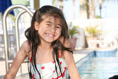 Little girl at the pool — Stock Photo