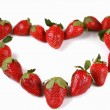 Strawberries in the shape of a heart — Stock Photo