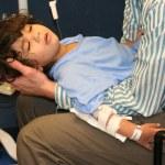 Little boy in Emergency Room — Stock Photo