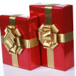 Elegant red presents — Stock Photo #2672305