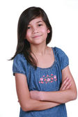 Confident Nine year old girl — Stock Photo