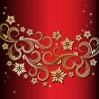Royalty-Free Stock ベクターイメージ: Holiday floral background
