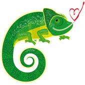 Fairytale isolated chameleon — Stock Vector