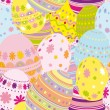 Stock Vector: Seamless easter eggs background