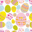 Seamless easter eggs background — 图库矢量图片