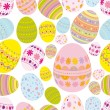 Seamless easter eggs background - Stock Vector