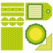 Easter set of green design elements — Stock Vector #2618968